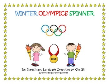 Winter Olympics Vocabulary Spinner Activity