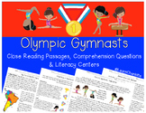 Olympic Gymnastics Team {Close Reading, Questions, & Literacy Centers!}