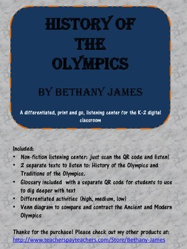 Olympic History and Traditions: a differentiated listening center