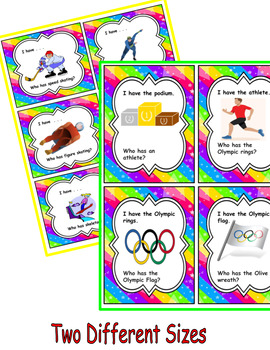 Olympic-I Have/Who Has? Game and Anchor Chart Vocabulary- ENGLISH Version