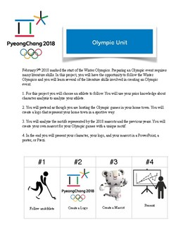 Winter Olympic Unit 2018 FREEBIE