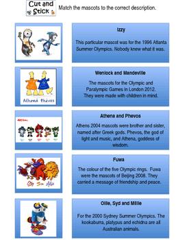 Olympic Mascot Lesson Rio 2016