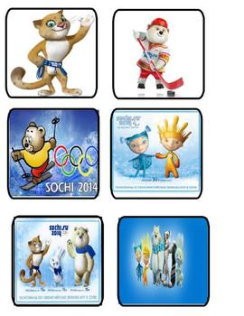 Olympic Mascots Sochi 2014 Matching or Memory Game