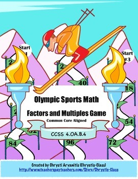 Olympic Math Center Freebie:  CCSS Aligned
