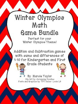Olympic Math Games for Kindergarten & First Grade- Additio