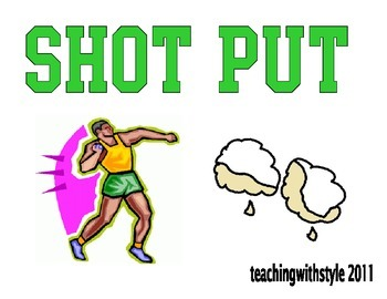 Olympic Math Night Signs
