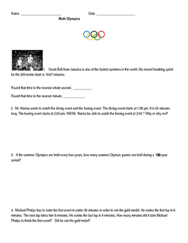 Olympic Math Problems