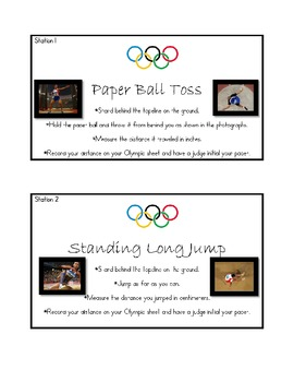 Olympic Math Stations