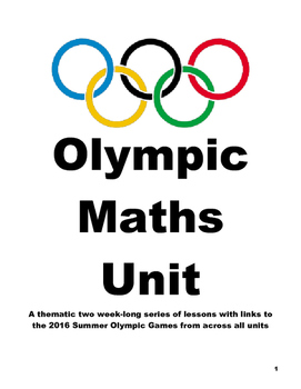 Olympic Math Unit - 2016 Summer Olympics for Years 2, 3, 4