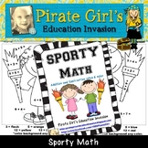 Sporty Math (solve and color sheets)