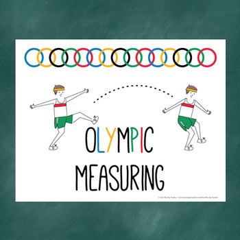 Olympic Measuring- Estimation, Non-Standard units, Graphin