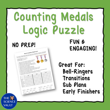 Olympic Medal Count Logic Puzzle - Great for Critical Thinking!