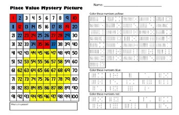 Olympic Medal Place Value Math Mystery Picture - 11x17