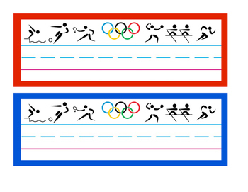 Olympic Name Plates