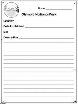 Olympic National Park Research Project
