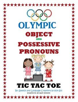 Olympic Object and Possessive Pronouns Tic Tac Toe