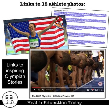 Summer Olympic P.E. Stations Workout - FREE!!!