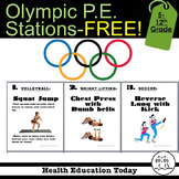 Olympic P.E. Stations Workout - FREE!!!