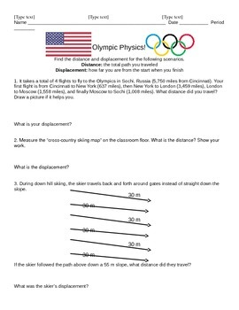 Olympic Physics Distance and Displacement