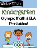 Winter Olympic Printables for Kindergarten
