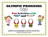 "Olympic Pronouns Fun Activities with ""He"" and ""She"""