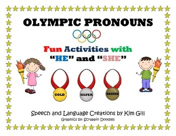 """Olympic Pronouns Fun Activities with """"He"""" and """"She"""""""
