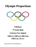 Olympic Proportions (Eight 7th Grade Math Stations)
