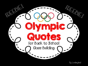 Olympic Quotes FREEBIE