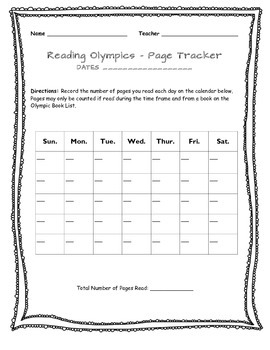 Olympic Reading Challenge