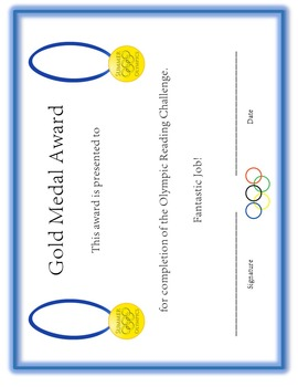 Olympic Reading Challenge and Activities