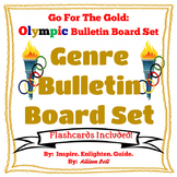 Olympic Reading Genre Bulletin Board Poster Set and Flash Cards