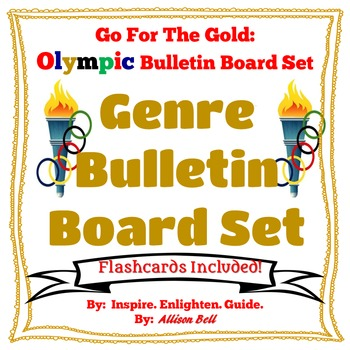 Olympic Reading Genre Bulletin Board Poster Set And Flash Cards Tpt