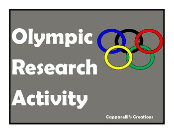 Olympic Research Activity