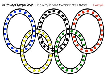 Olympic Ring Dot Art