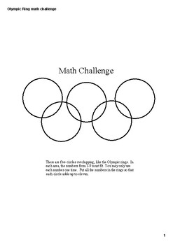 Olympic Ring Math Challenge