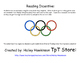 Olympic Ring Reading Incentive & Book Review
