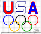 Olympic Rings Mystery Picture : Distance Learning