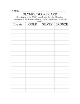 Olympic Score Card