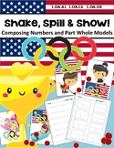 Winter Olympics 2018 Shake Spill Show Composing Numbers Game Part Whole Model