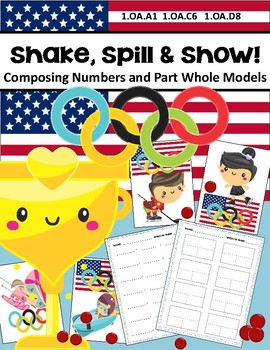 MATH OLYMPICS Kindergarten K-2 Shake Spill Composing Numbers Game Part Whole