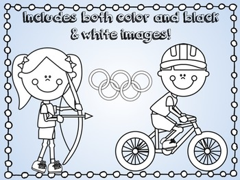 Olympic Sports Cute Kids Clipart