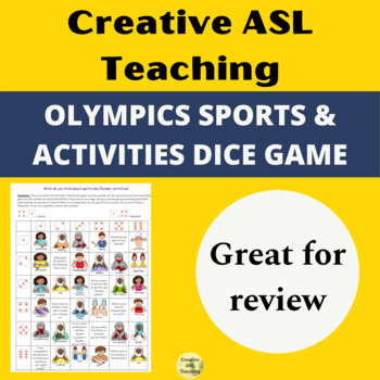 Olympic Sports and Activities Dice Game - ASL