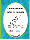 Color by Number Math,Summer Games, Fine Motor Skills, Special Education