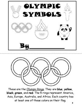 Olympic Symbols Book -2018 Winter Olympics