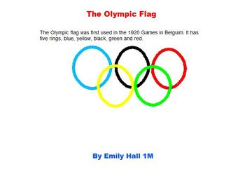 Olympic Symbols Kid Pix Project