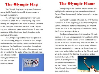 Olympic Symbols Publisher Project