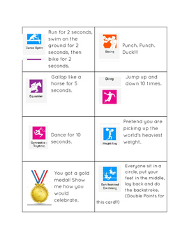 Olympic Task Cards