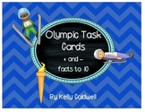 Olympic Task Cards {+and -}
