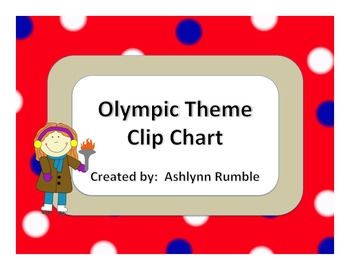 Olympic Theme Clip Chart