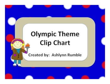 Olympic Theme Clip Chart - Blue